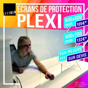 Plexi comptoir bureau